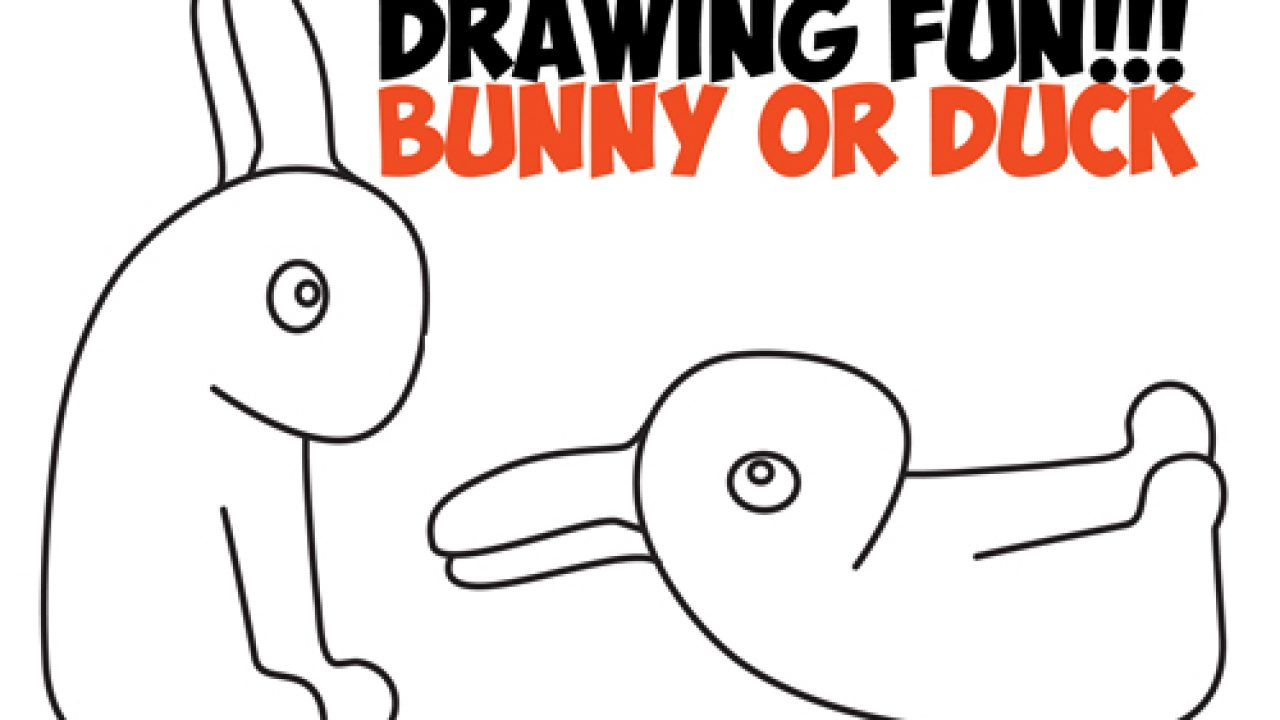 How To Draw An Optical Illusion For Kids Is It A Duck Or Is It A Bunny Rabbit Easy Step By Step Drawing Trick How To Draw Step By