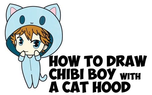 How To Draw A Chibi Boy With Hood On Drawing Cute Chibi Boys