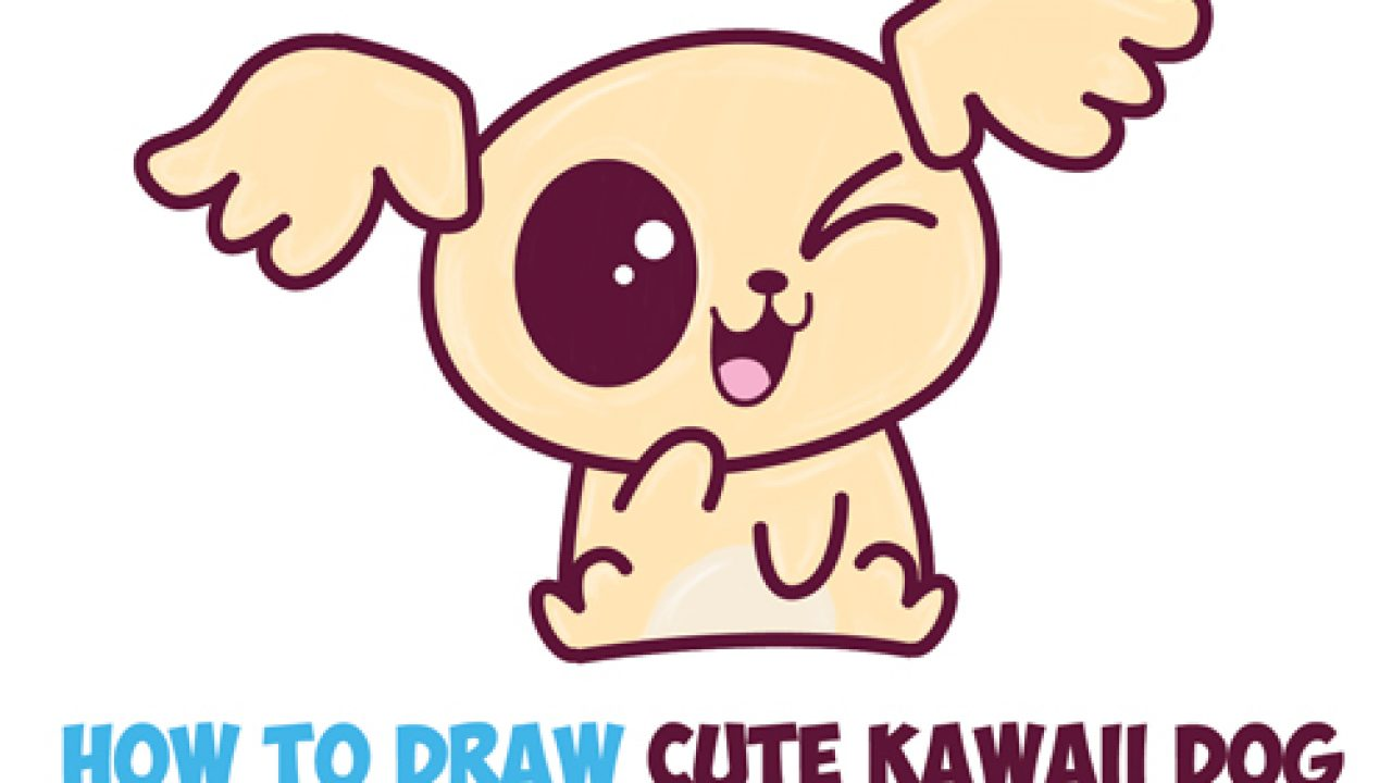 How to Draw Cute Kawaii / Chibi Puppy Dogs with Easy Step by