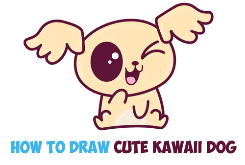 Kawaii Dog Archives How To Draw Step By Step Drawing Tutorials