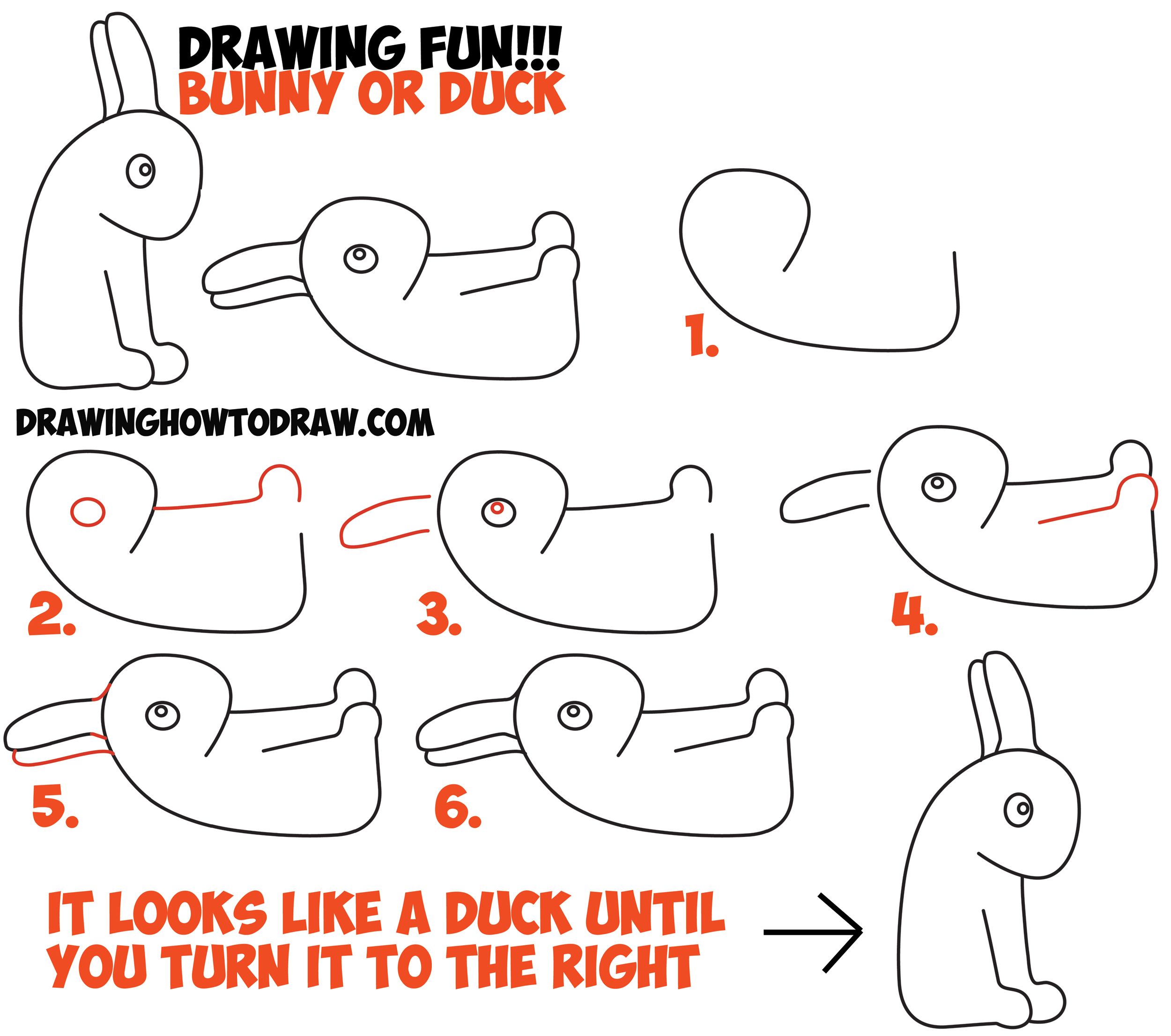 How To Draw An Optical Illusion For Kids Is It A Duck Or Is It A