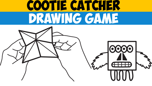 Cootie catcher template archives how to draw step by step drawing how to play the cootie catcher drawing game fun for kids who love to draw step by step instructions maxwellsz