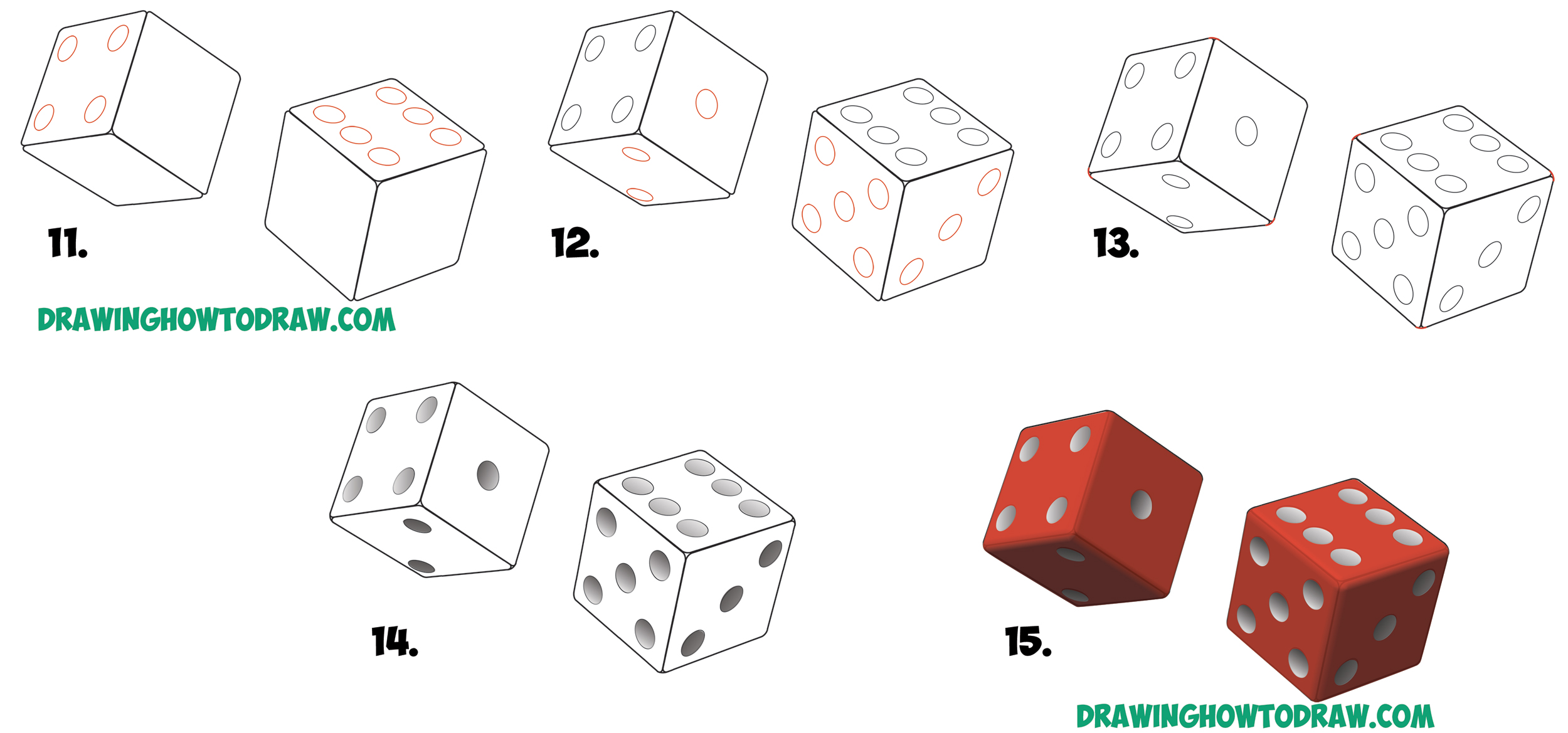 Dice Drawing wwwpixsharkcom Images Galleries With A