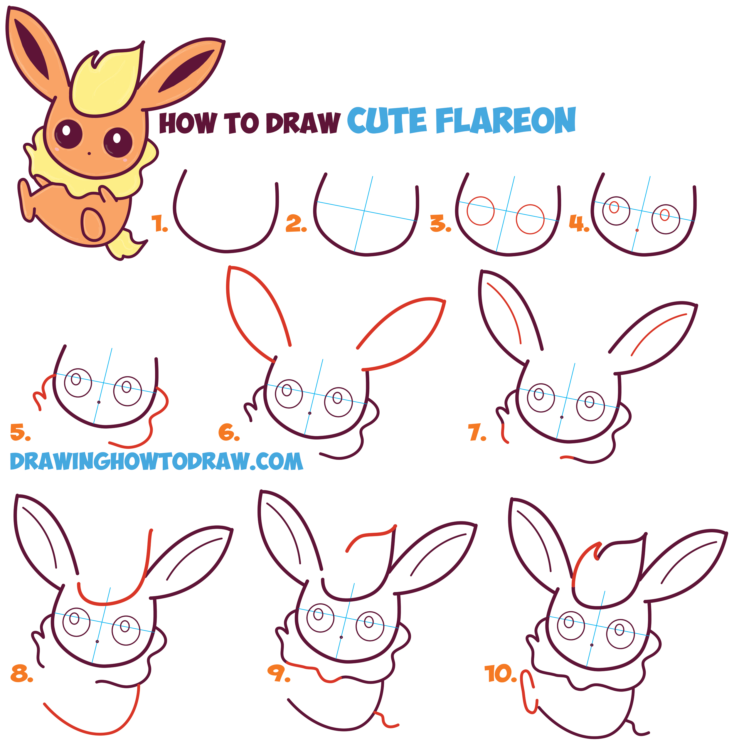 Kawaii pokemon easy images pokemon images for Drawing ideas for beginners step by step