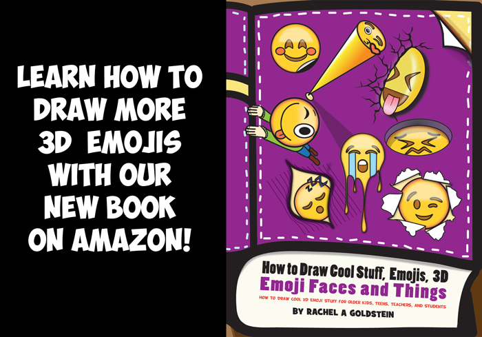 how to draw cool 3d emojis - cool stuff drawing book for kids and teens