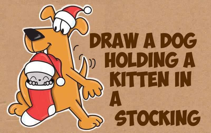how to draw a cartoon dog cute