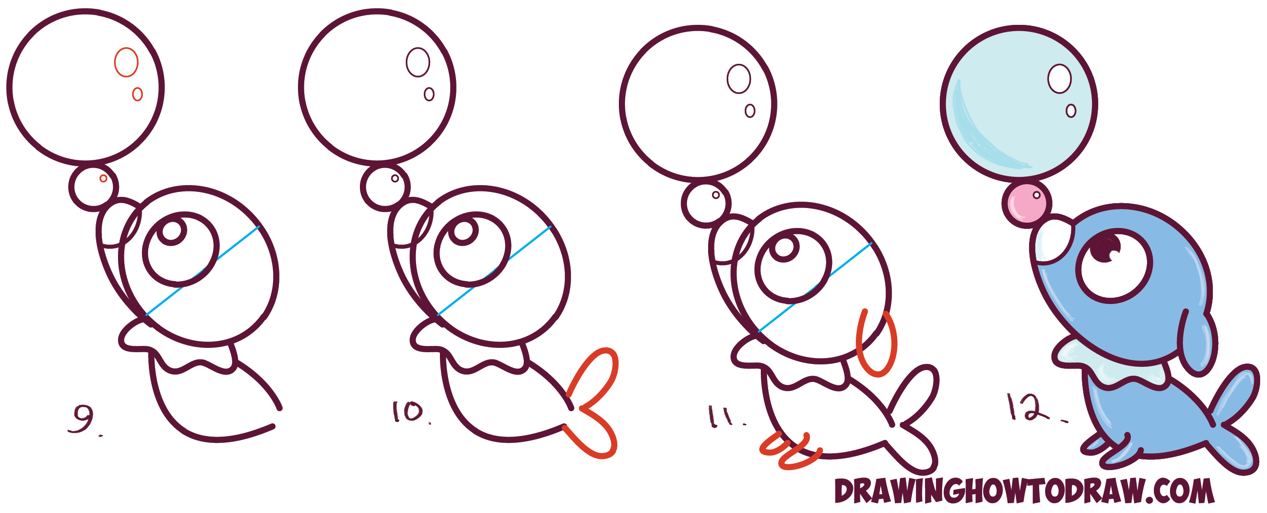 How To Draw Cute Kawaii Chibi Popplio From Pokemon Sun And Moon In