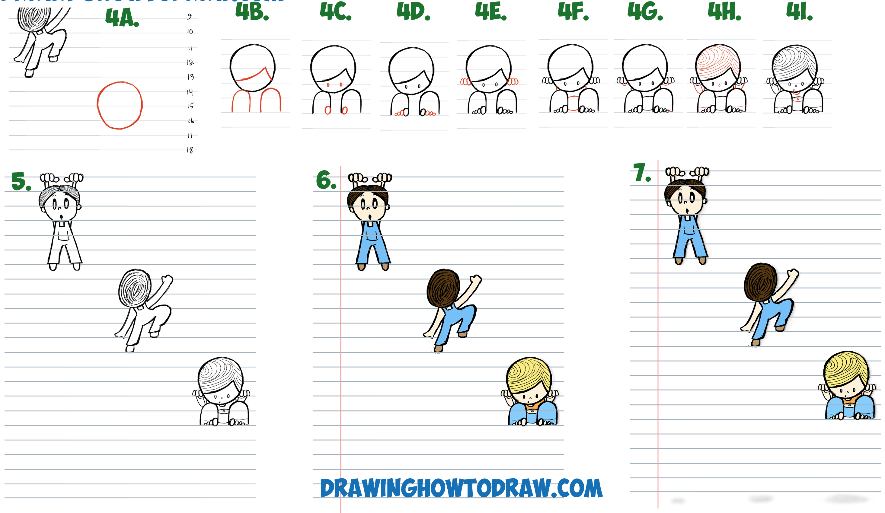 How To Draw Cartoon Boys Climbing Notebook Paper Cool 3d Trick And