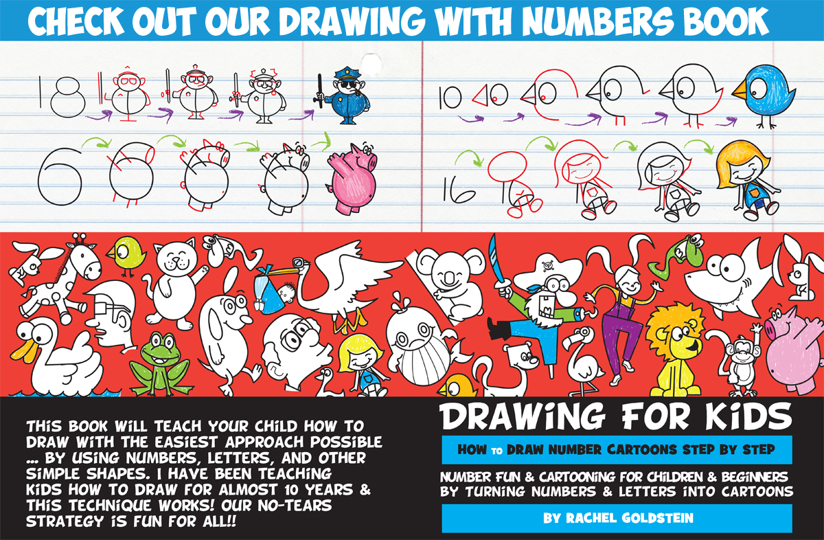 drawing with numbers book for kids