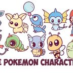 Learn How to Draw Cute Chibi Kawaii Pokemon Characters with Easy Step by Step Drawing Tutorial for Kids and Beginners