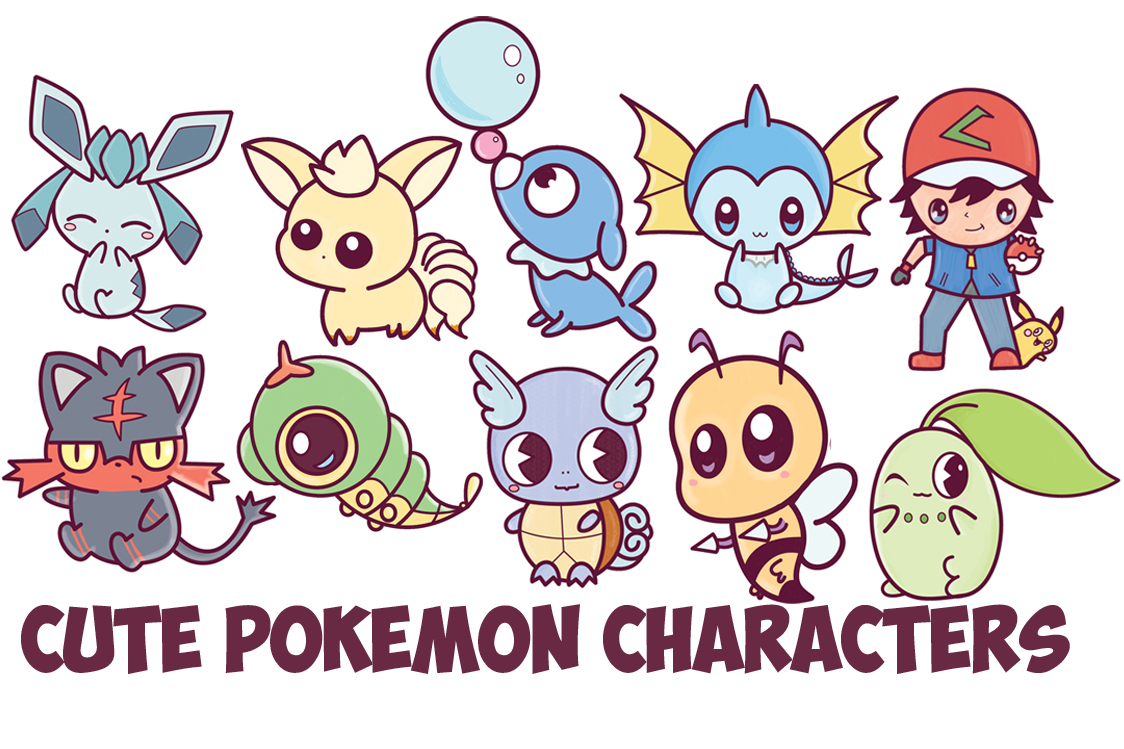 Learn How To Draw Cute Chibi Kawaii Pokemon Characters With Easy Step By Drawing Tutorial