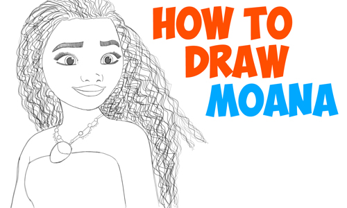 How To Draw Moana Easy Step By Step Drawing Tutorial For Kids And Beginners - How To Draw Step ...