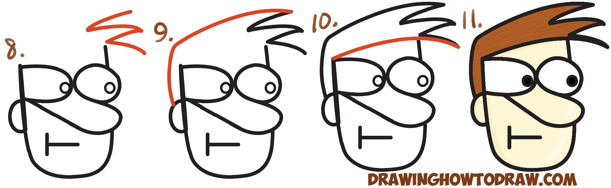 Learn How to Draw a Cartoon Face with Alphabet Letters with Simple Steps Drawing Lesson for Children and Beginners