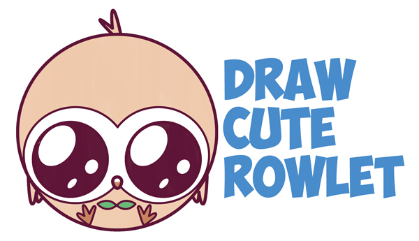 Pokemon characters archives how to draw step by step drawing tutorials how to draw cute kawaii chibi rowlet from pokemon sun and moon easy step by step drawing tutorial for kids and beginners publicscrutiny Gallery