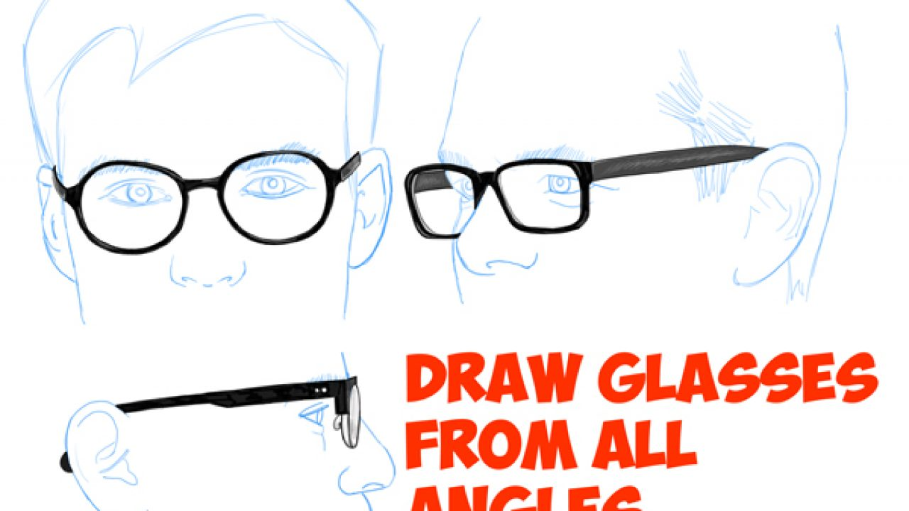 Cartoon Glasses Drawing Easy