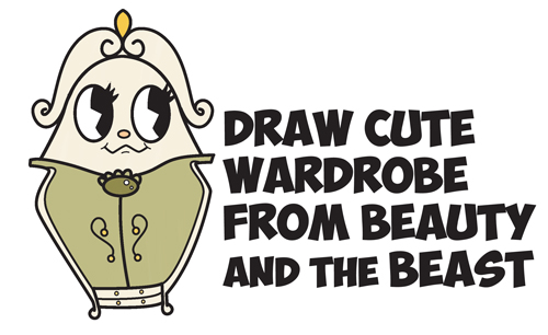 How to Draw Cute Kawaii Chibi Wardrobe from Beauty and the Beast Easy Step by Step Drawing Tutorial