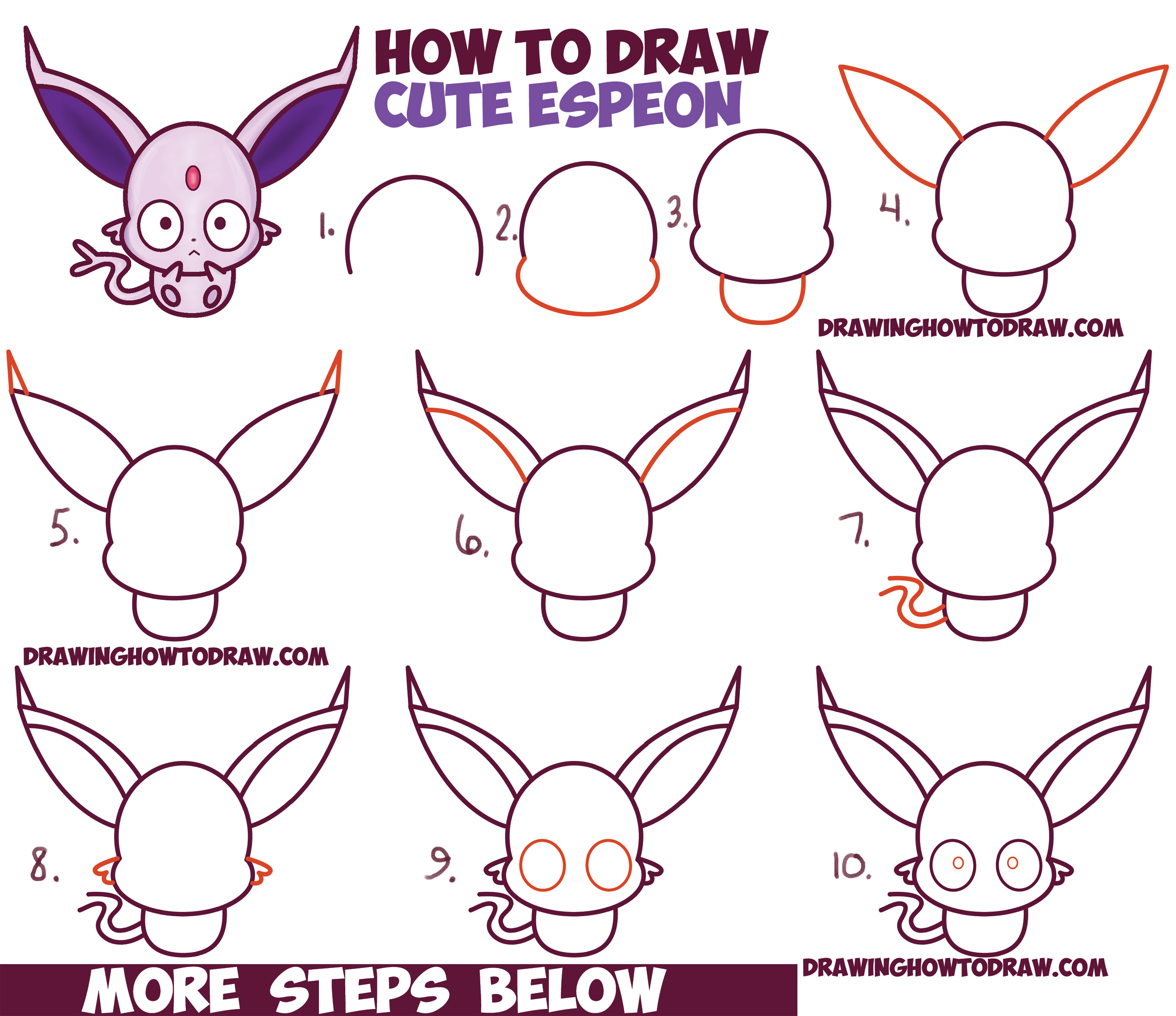 How to draw wolf ears - photo#28