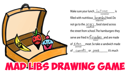 How to Play the Mad Libs Drawing Game for Kids : Silly Art Games for Children