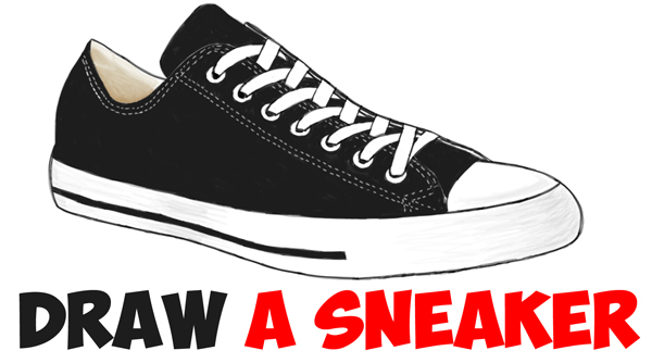 How To Draw Sneakers Shoes With Easy Step By Drawing Tutorial For Beginners Tutorials