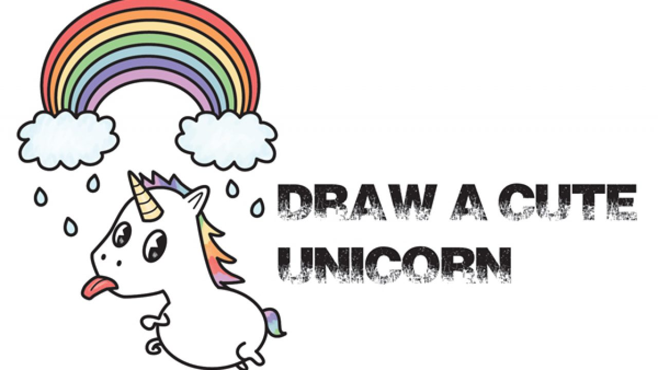 How To Draw A Cute Kawaii Unicorn With Tongue Out Under