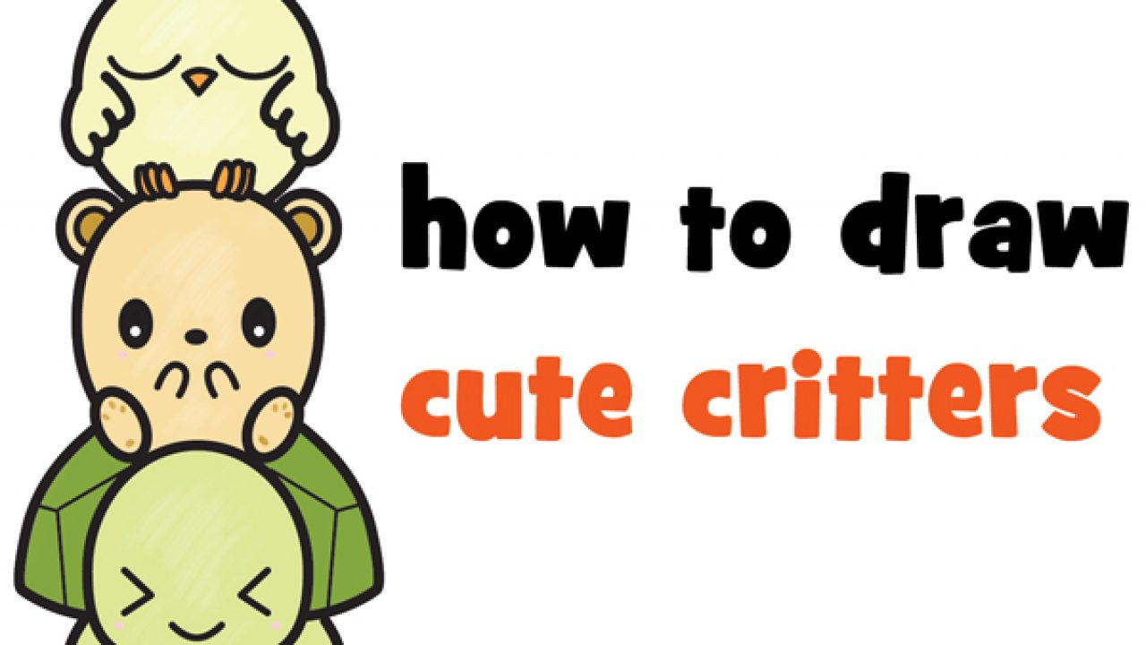 Learn How To Draw Cute Cartoon Turtle Hamster Bird Kawaii Easy Step By Step Drawing Tutorial For Kids How To