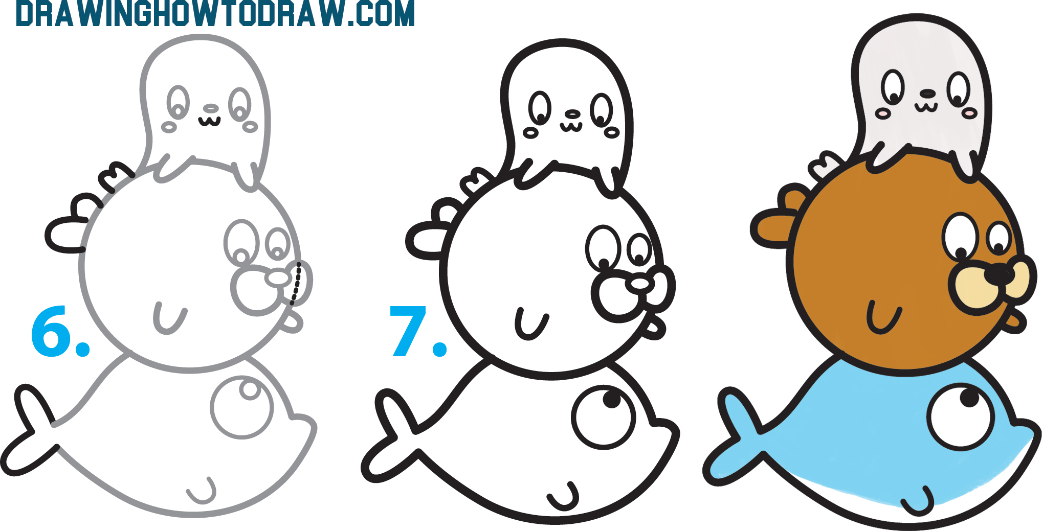 How To Draw A Walrus Step By Step