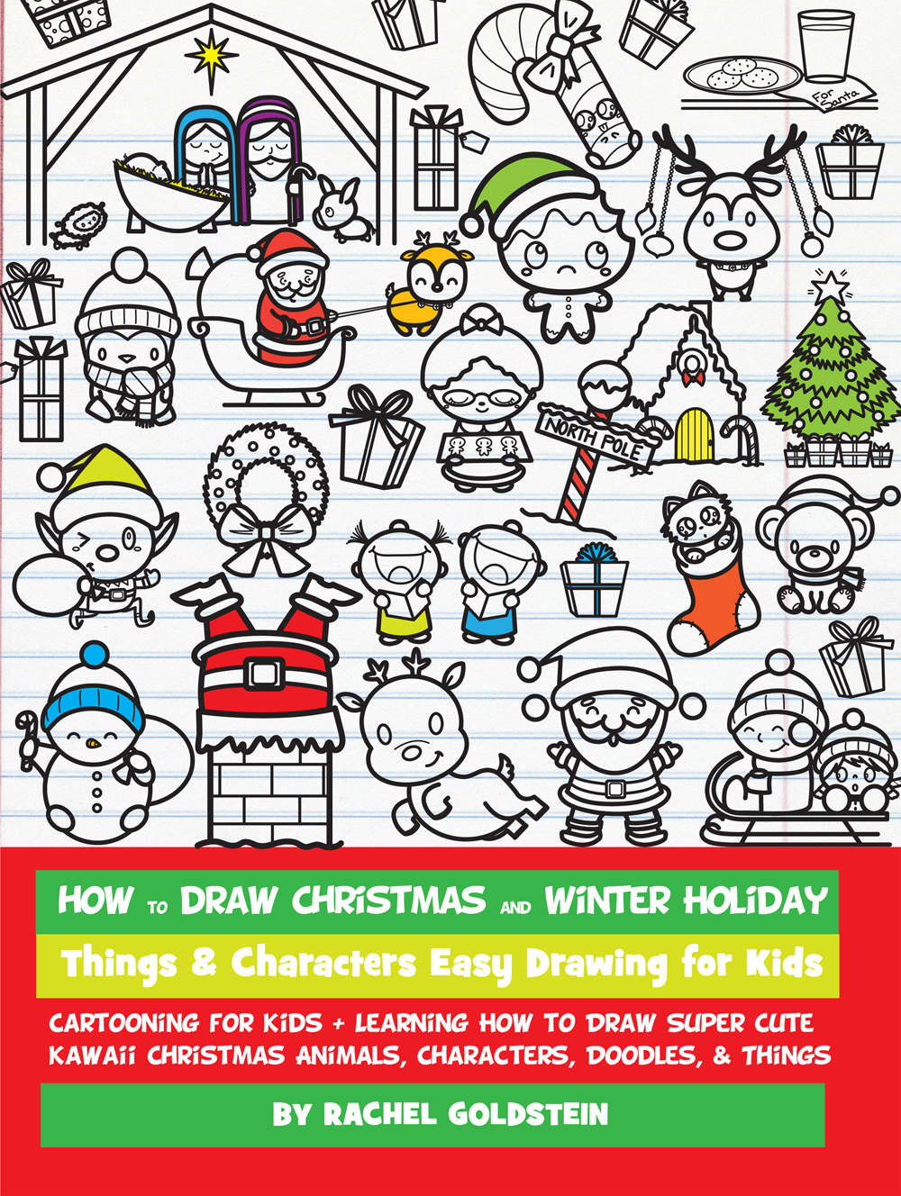 How to Draw Christmas and Winter Holiday Things & Characters Easy ...