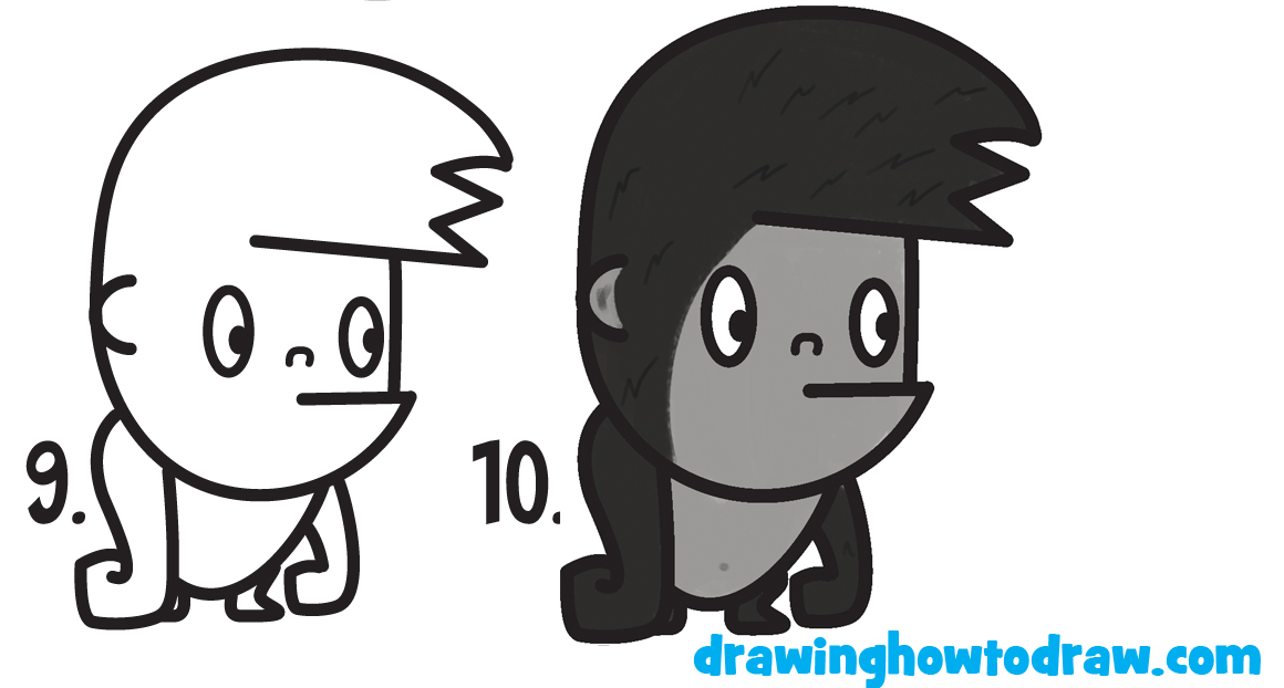 Cute cartoon pictures that are easy to draw for Learn to draw cartoons step by step lessons