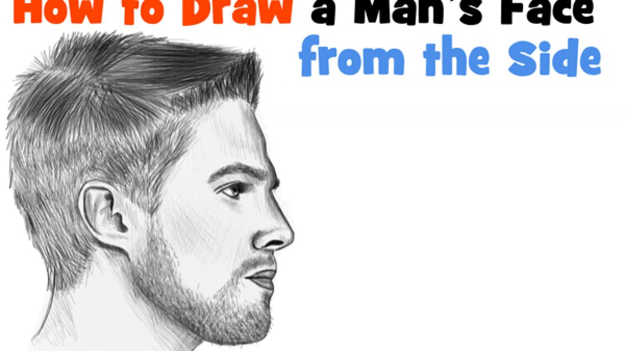 How To Draw A Face From The Side Profile View Male Man Easy Step By Step Drawing Tutorial For Beginners How To Draw Step By Step Drawing Tutorials
