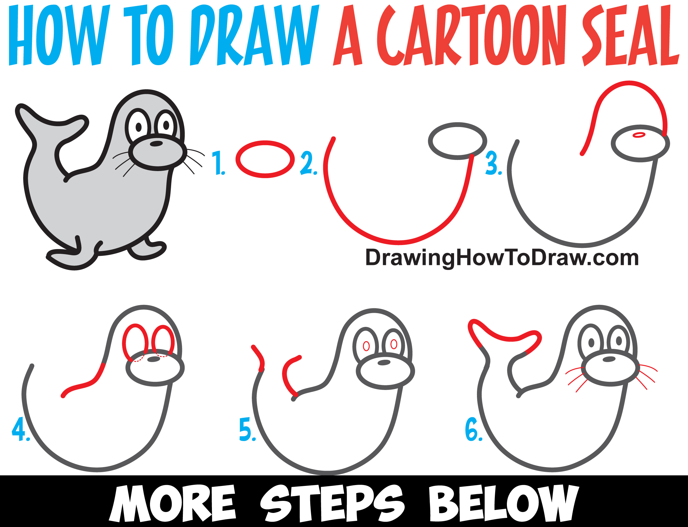 Learn how to draw a cartoon otter easy step by step for How to make cartoon drawings step by step