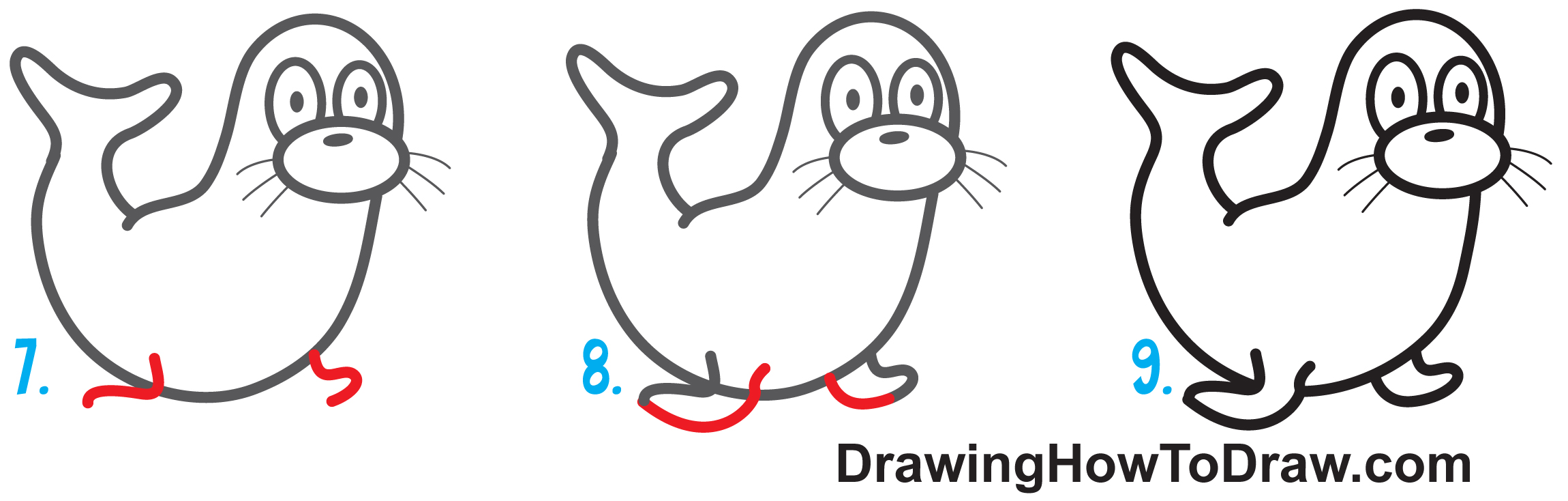 Learn How to Draw a Cartoon Otter Easy Step by Step Drawing Tutorial for Kids & Beginners