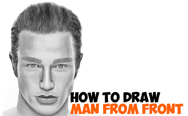 LearnHow to Draw a Handsome Man's Face from the Front View (Male) Easy Step by Step Drawing Tutorial for Beginners