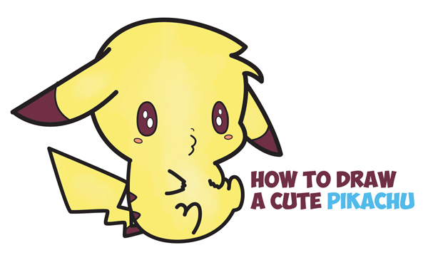 Learn How To Draw An Adorable Pikachu Kawaii Chibi Easy Step By Drawing Tutorial For Kids Beginners