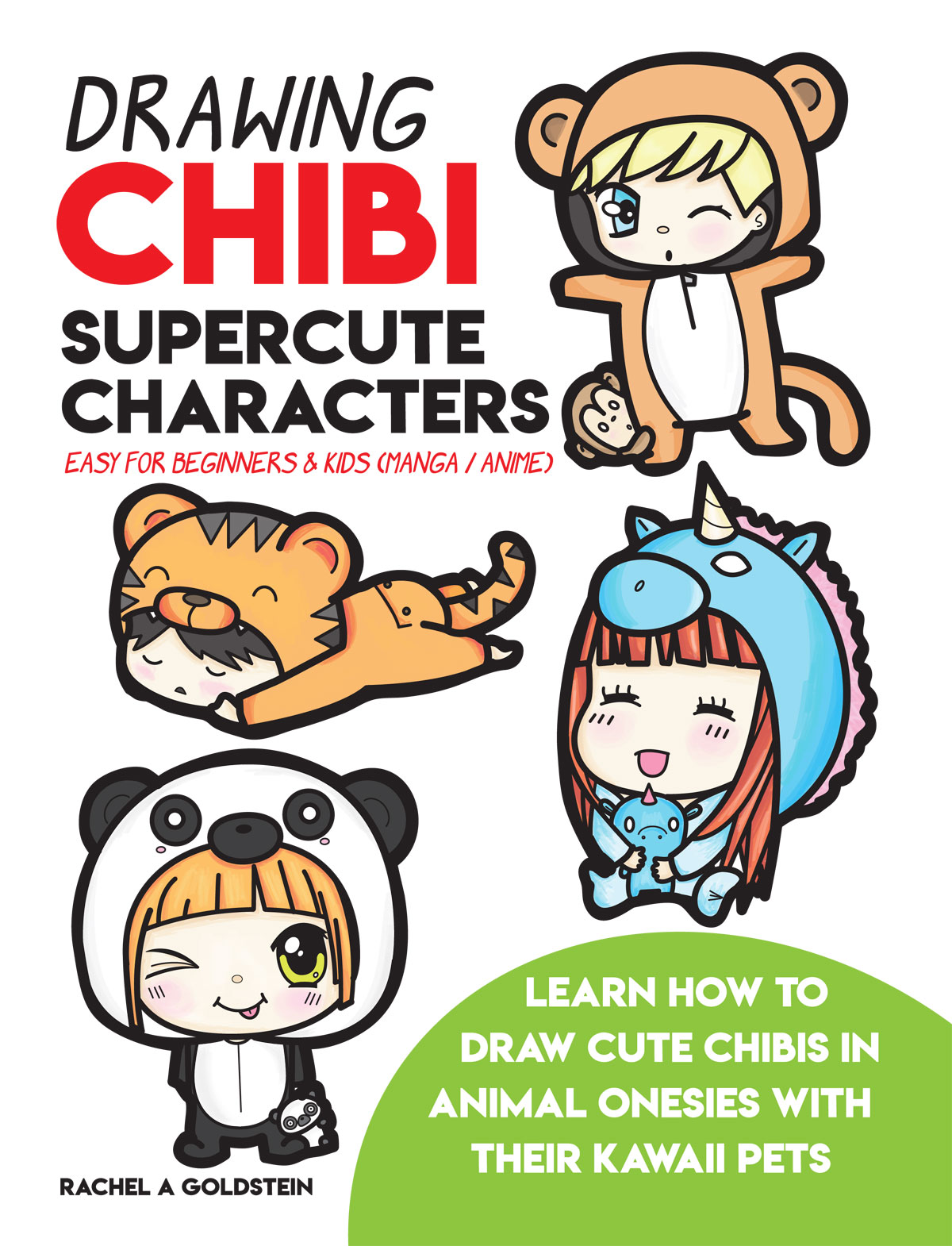 drawing supercute chibis in animal pajamas for beginners