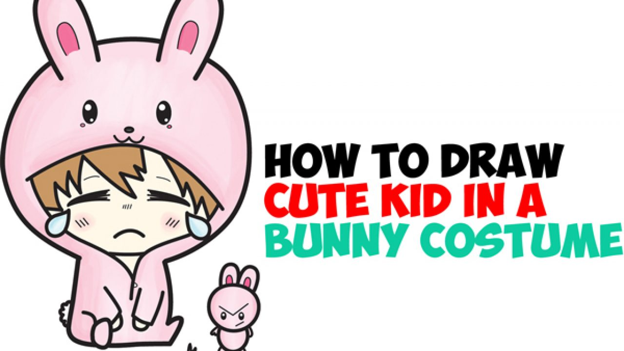 How To Draw A Cute Chibi Character In Bunny Rabbit Onesie