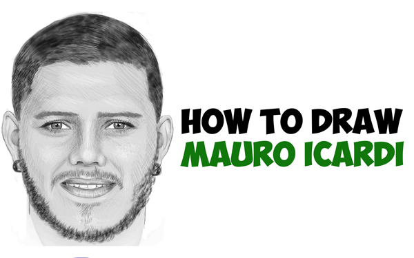 how to draw mauro icardi drawing a realistic man s face with beard