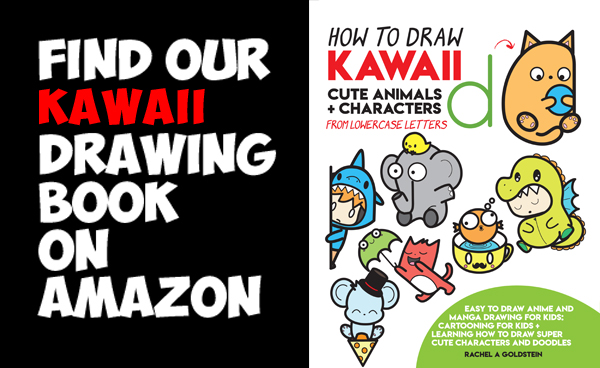how to draw cute kawaii doodles and characters and animals from lowercase alphabet