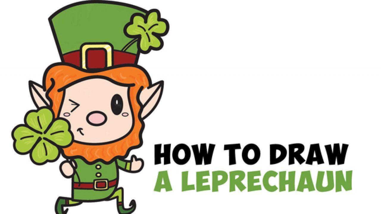 How to Draw a Cute Cartoon Leprechaun for Saint Patrick's ...