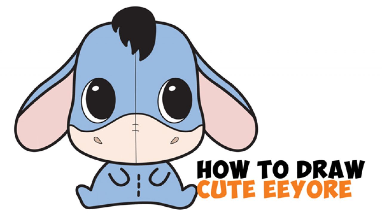 How To Draw A Cute Chibi Kawaii Eeyore Easy Step By Step