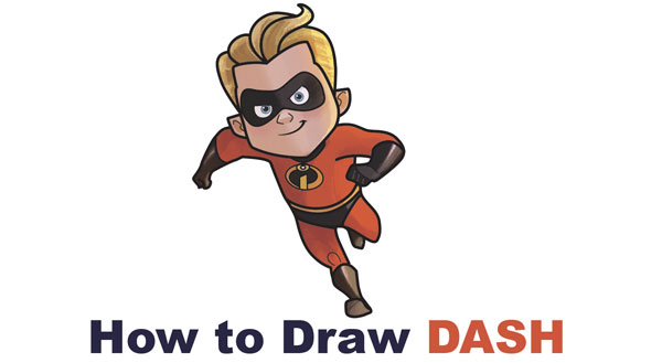 how to draw dash the fast boy from the incredibles