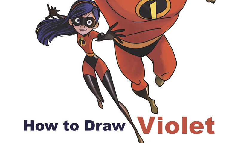 how to draw violet the sister from the incredibles