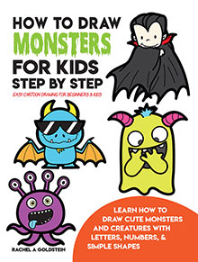 how to draw monsters for kids - easy step by step drawing book
