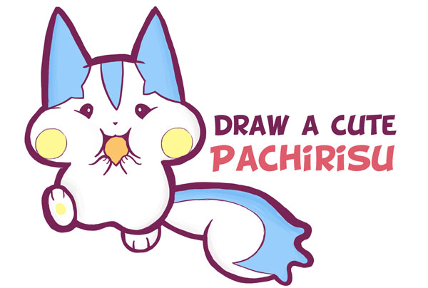 Learn How to Draw Cute Pachirisu Pokemon with Easy Step by Step Drawing Tutorial for Kids & Beginners