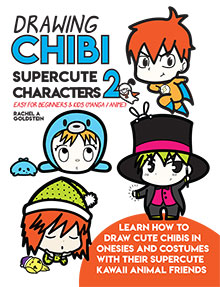 how to draw cute chibis with costumes book 2