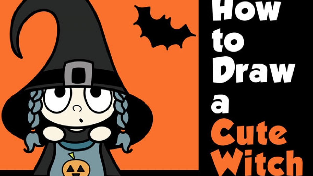 How To Draw A Cute Cartoon Kid Dressed Up As A Witch For Halloween Easy Step By Step Drawing Tutorial How To Draw Step By Step Drawing Tutorials Watch anime online, you can watch anime movies online and english dubbed. how to draw a cute cartoon kid dressed