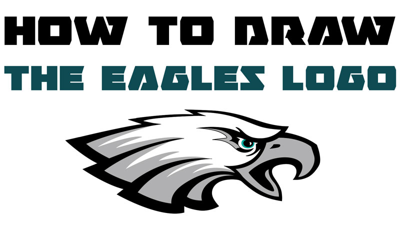 How To Draw The Eagle S Logo With Easy Step By Step Drawing Lesson For Beginners How To Draw Step By Step Drawing Tutorials