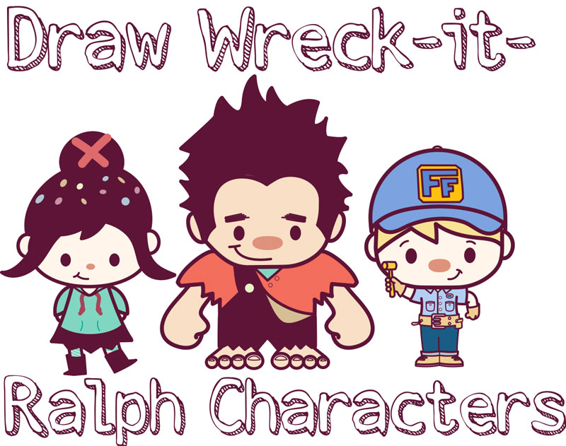 How to Draw Super Cute Chibi Wreck it Ralph Characters