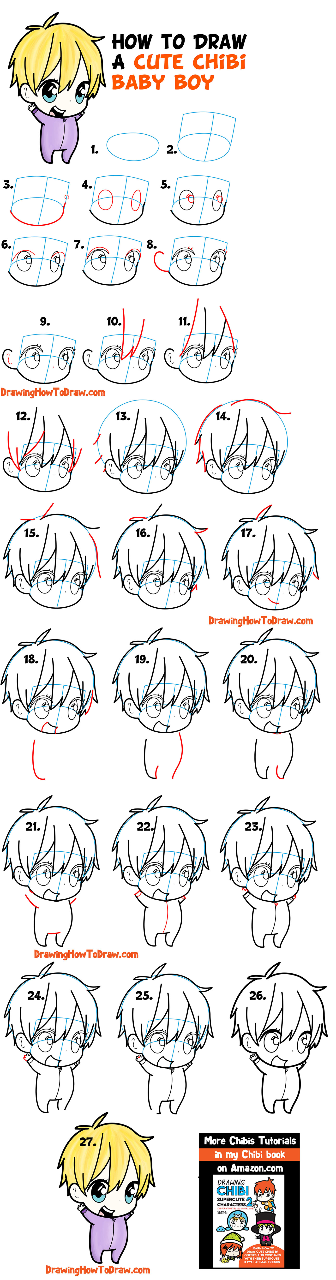 Learn How to Draw a Cute Chibi Boy Easy Step by Step Drawing Tutorial for Kids & Beginners