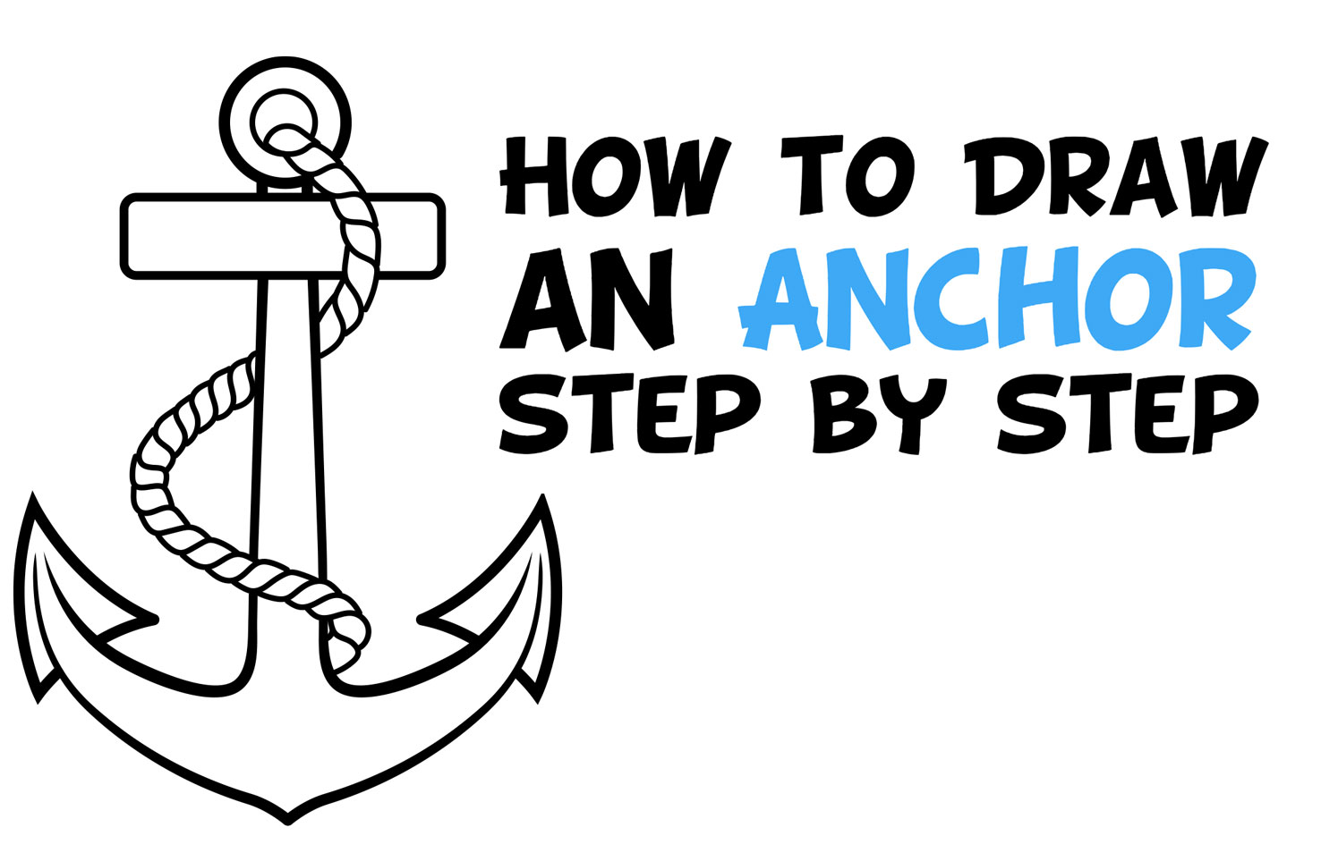 Learn How to Draw an Anchor Easy Step by Step Drawing Tutorial for Beginners