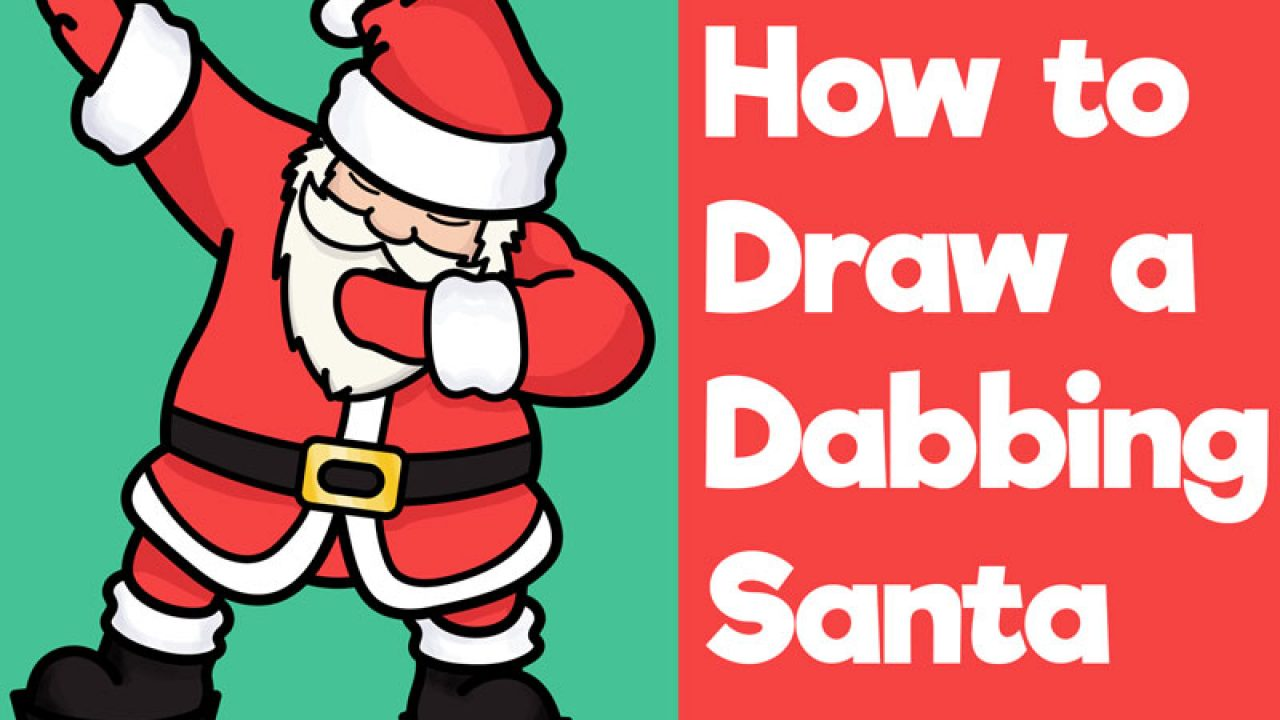 How To Draw Santa Dabbing Easy Steps Drawing Tutorial For